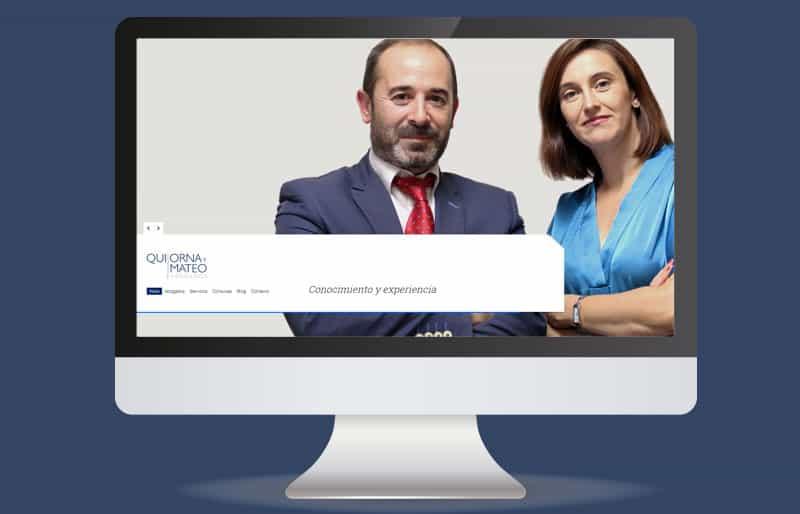 Portafolio web: trabajo realizado para Quijorna y Mateo abogados