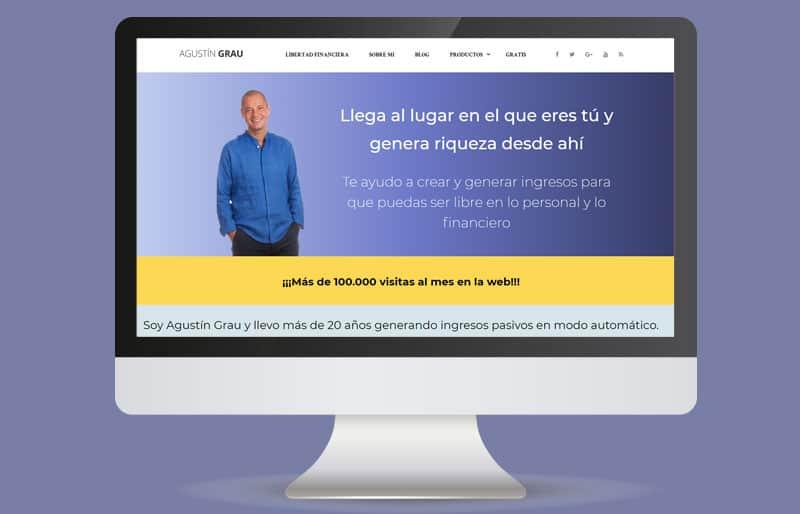 Portafolio web: trabajo realizado para Agustín Grau