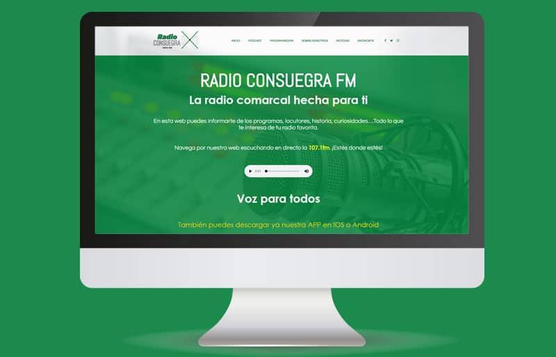 Portafolio web: trabajo realizado para Radio Consuegra