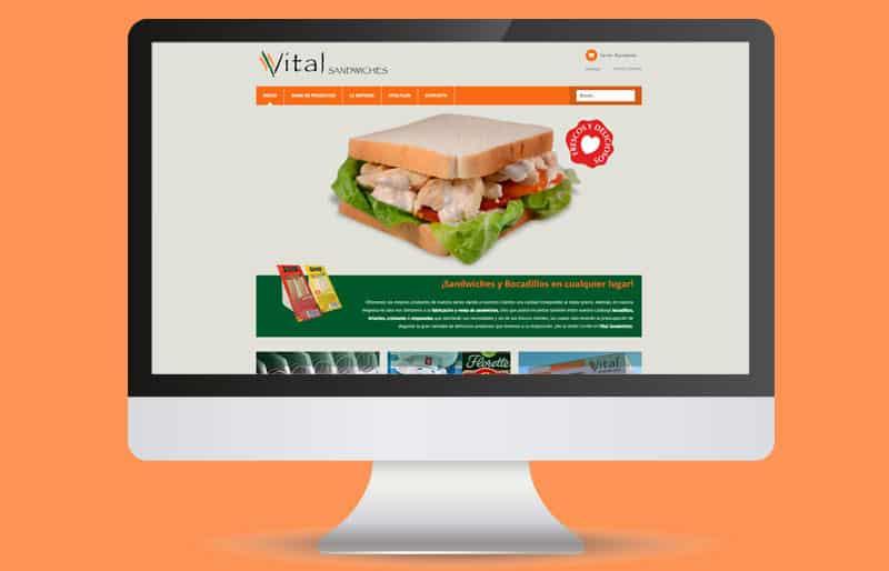 Portafolio web: trabajo realizado para Vital Sandwiches