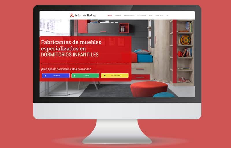 Portafolio web: trabajo realizado para Industrias Rodrigo