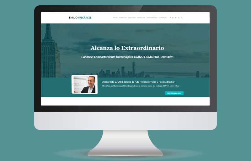 Portafolio web: trabajo realizado para Emilio Valcárcel