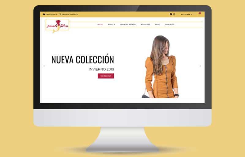 Portafolio web: trabajo de diseño web realizado para Fabulas de Meri