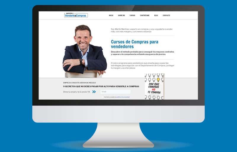 Portafolio web: trabajo realizado para Martín Martinez, de Aprende a Venderle a Compras.