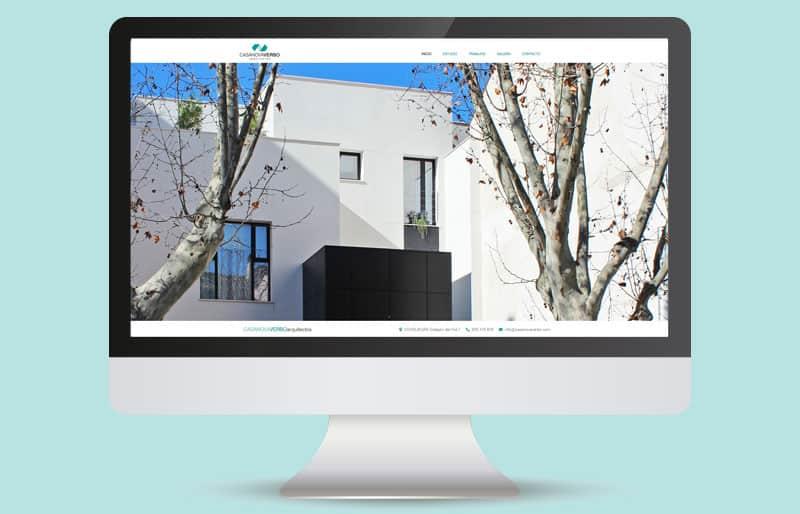 Portfolio de diseño web: trabajo realizado para Casanova Verbo Arquitectos.