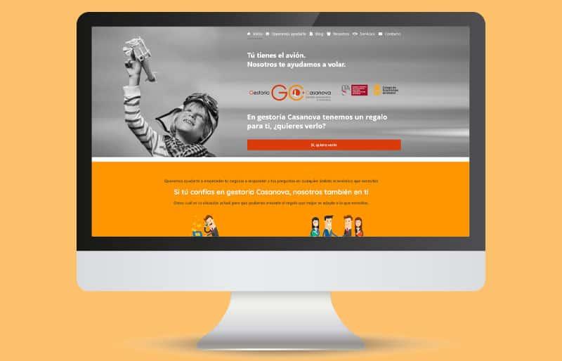 Portfolio de diseño web: trabajo realizado para Gestoría Casanova