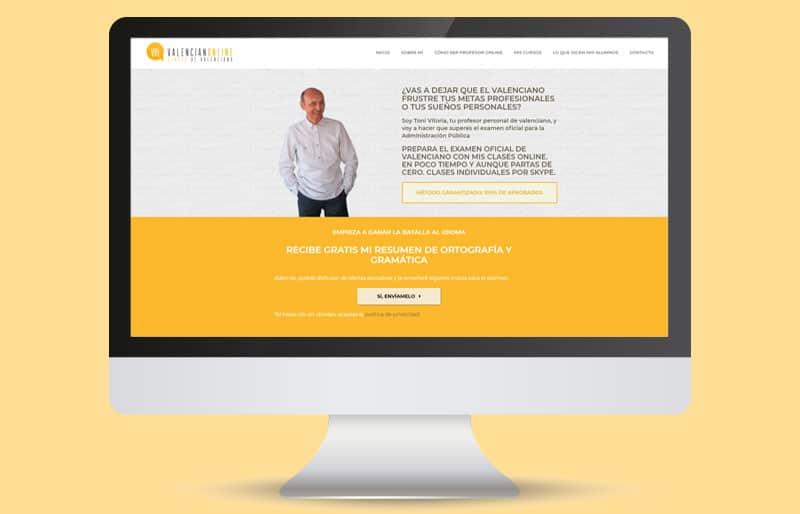 Portfolio de diseño web: trabajo realizado para Valencian Online