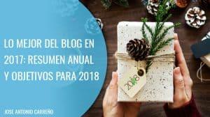 Lo mejor del blog en 2017 y nuevos objetivos para 2018
