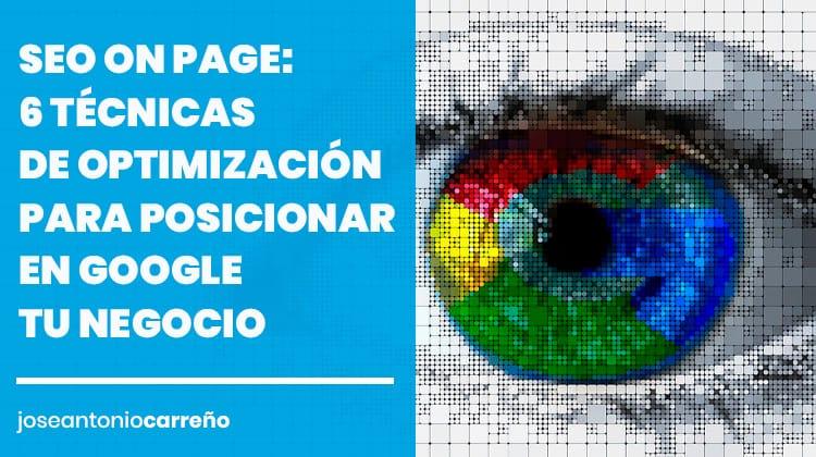 SEO on page: cómo posicionar tu web en Google.