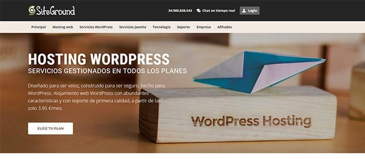 Siteground, el mejor hosting web para WordPress.