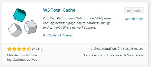 Instalación de W3 Total Cache
