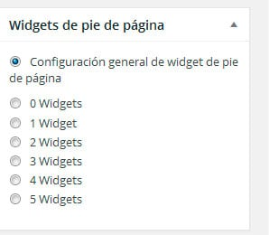 Widgets de pie de página en GeneratePress