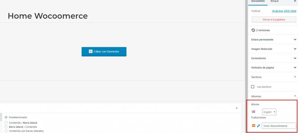 Wordpress multiidioma.